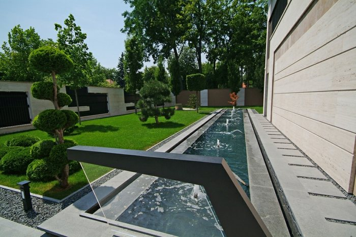 modernas estilos casas entradas salones fuentes