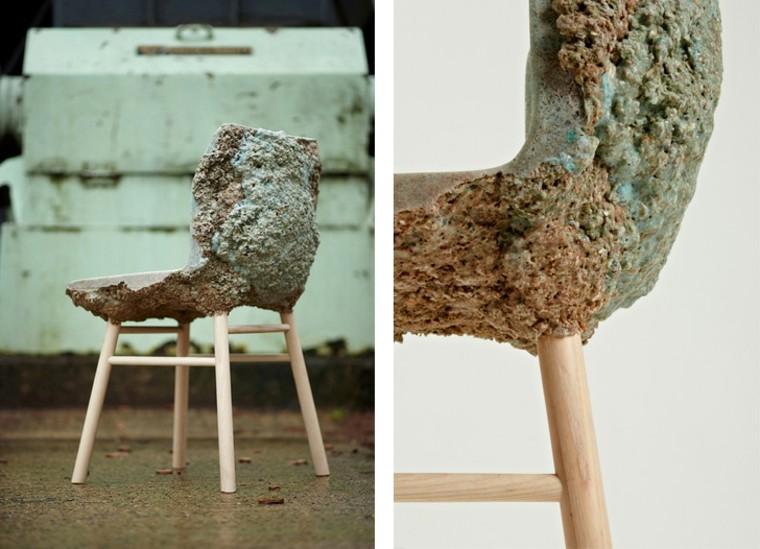 mueble orogonmal cemento silla resina serrin