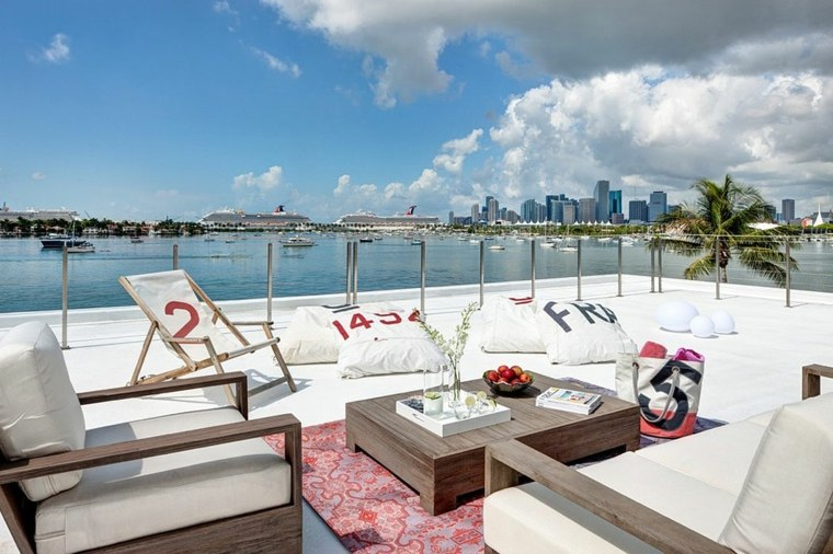muebles blanco terraza paraiso vistas ideas