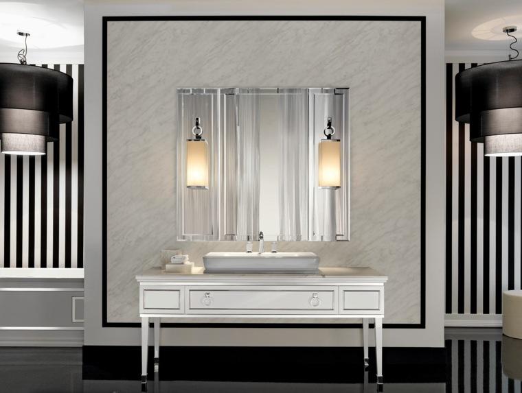 muebles de baño diseno clasico espejo grande ideas