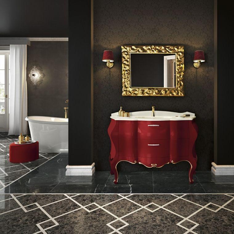 Muebles de baño italianos con diseño clásico -