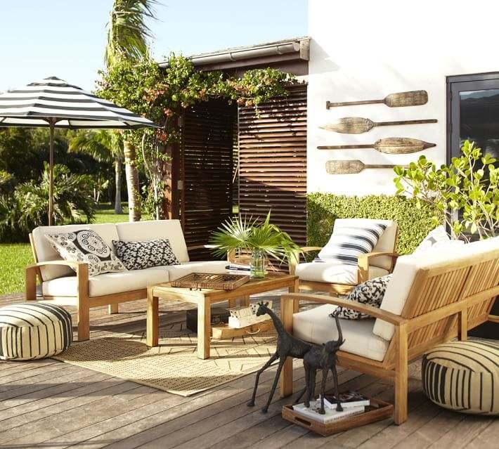 Muebles de madera teca 24 ideas para la terraza for Muebles de terraza madera