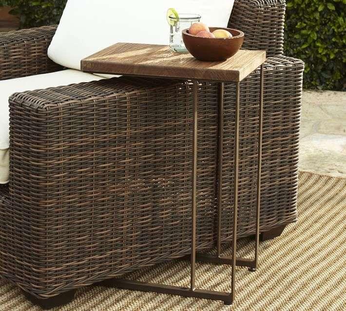 muebles de madera teca mesa auxiliar ideas