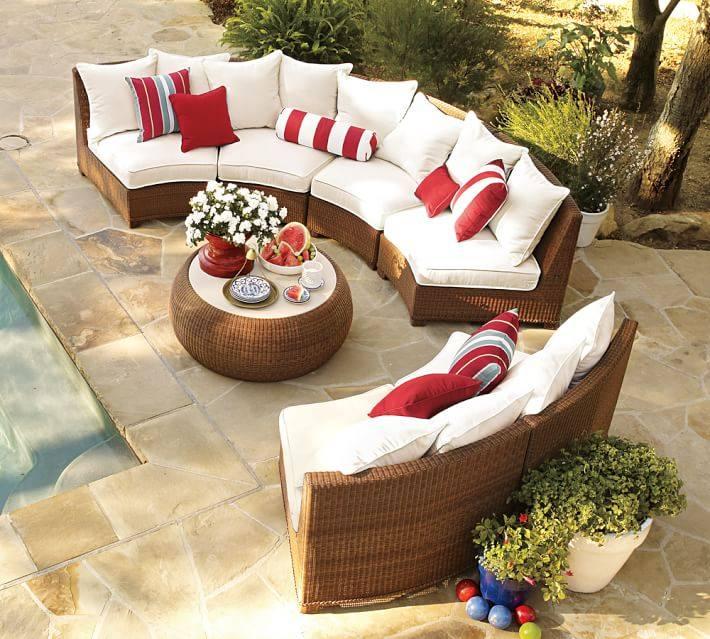 muebles de terraza baratos color ratan claro ideas