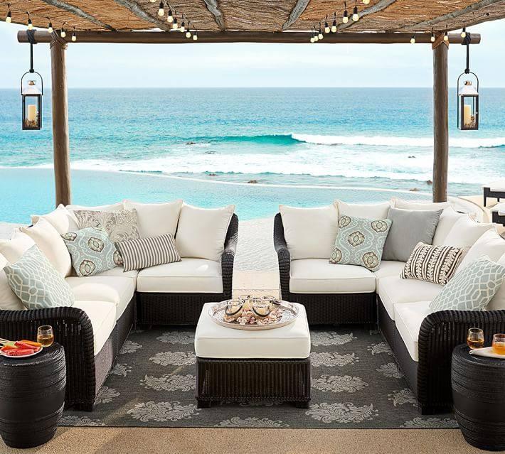 muebles de terraza baratos ratan negro sillones