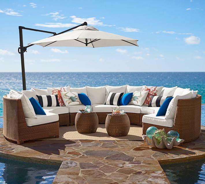 muebles de terraza baratos sofas forma ovalada ideas