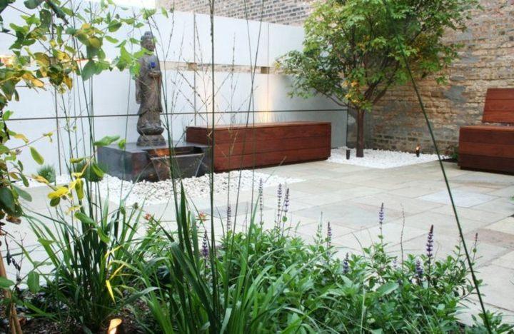 muebles extriores esculturas piedras agua