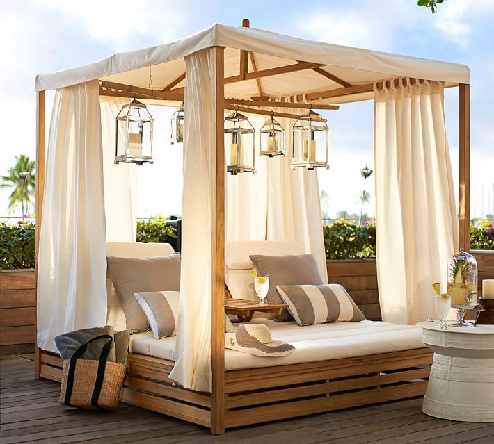 muebles madera teca cama aire libre ideas