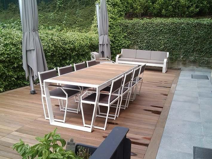 Muebles de madera teca 24 ideas para la terraza - Muebles de teca para jardin ...