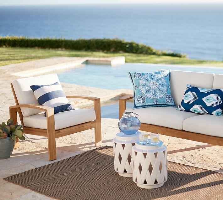 Muebles de madera teca 24 ideas para la terraza for Sillon terraza