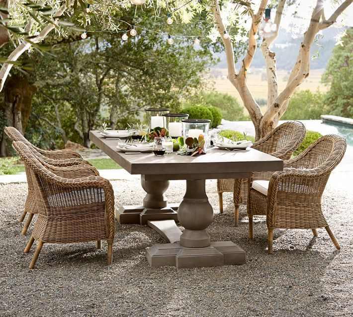 muebles terraza lugar comidas moderno ideas
