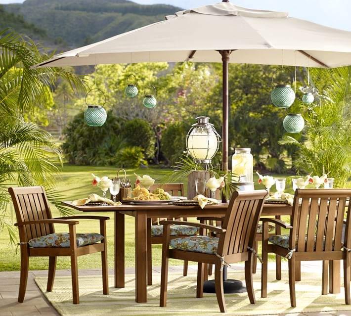 muebles terraza mesa grande comidas ideas