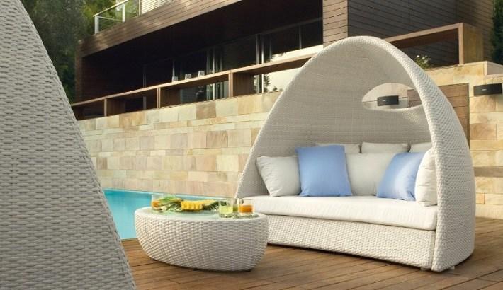 muebles terraza rattan color blanco ideas