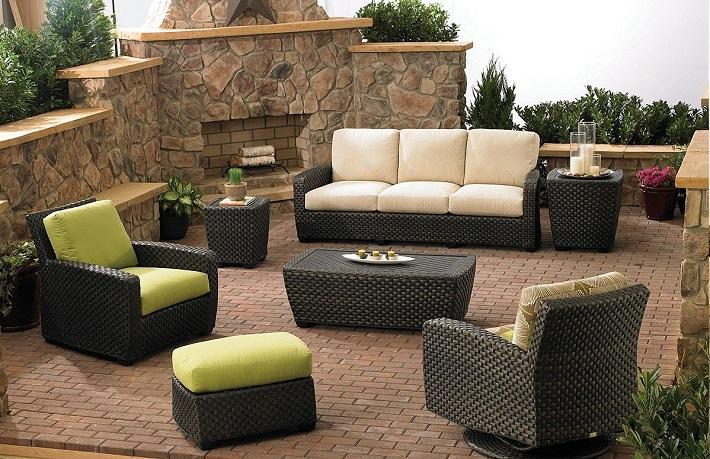 muebles terraza rattan color negro ideas