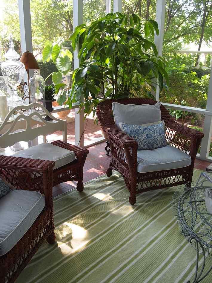 muebles terraza rattan estilo clasico ideas