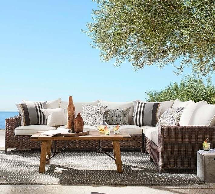 muebles exterior terraza moderna rattan ideas