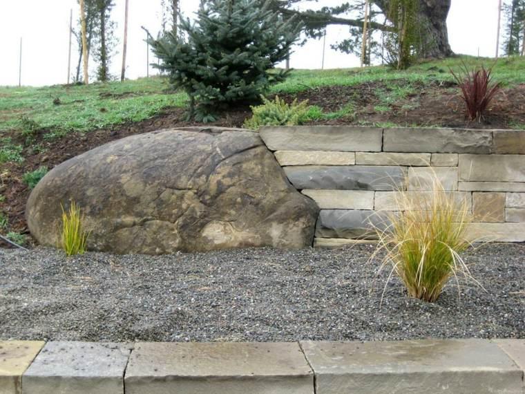 muro contencion piedras secas