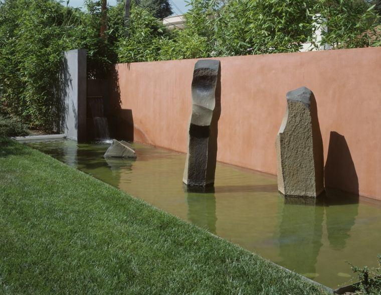 muro acero corten fuentes piedra