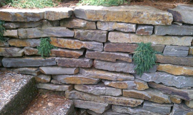 muro de rocas