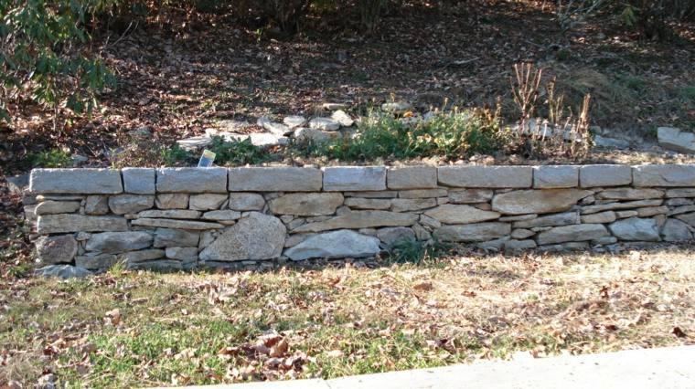 muro jardin piedras secas pequeo