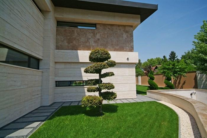 muros conceptos casas lineas cesped