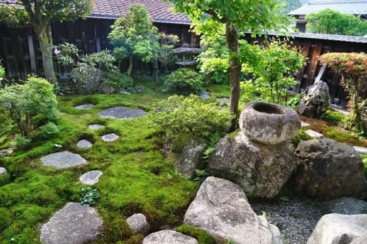 naturales efectos musgo rocas tejados
