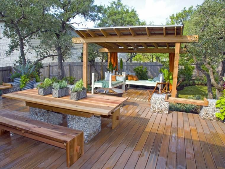naturales madera cercados sillones helechos puentes