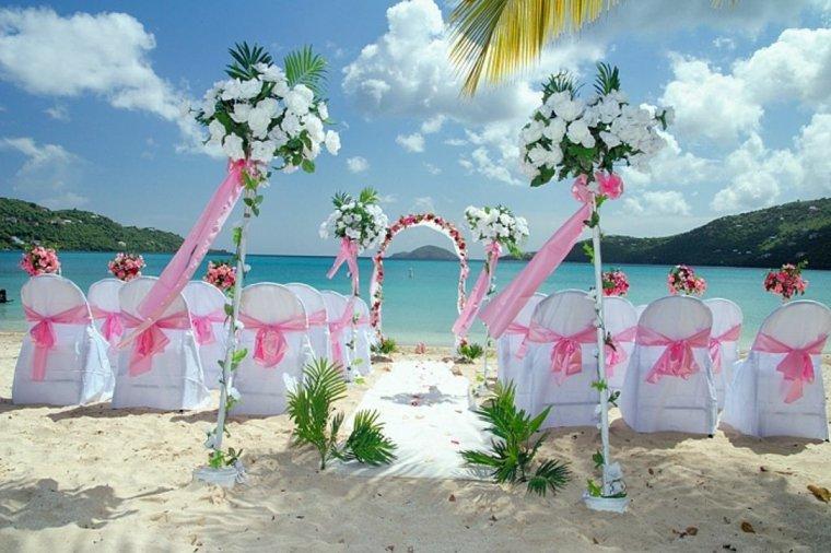 oeriginal decoracion para bodas altar boda