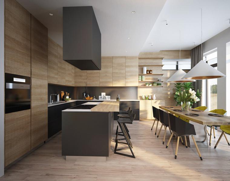 Casas de lujo tres dise os de interiores impresionantes for Disenos de cocinas comedor modernas