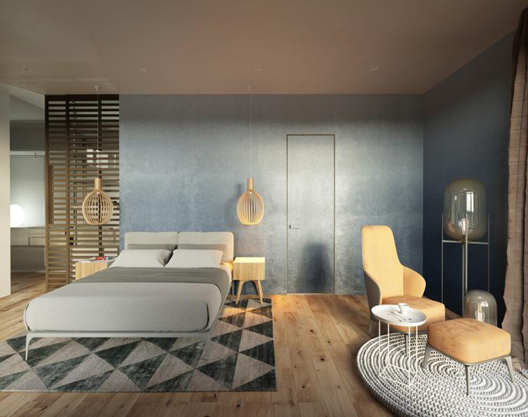 dormitorio moderno colores suaves