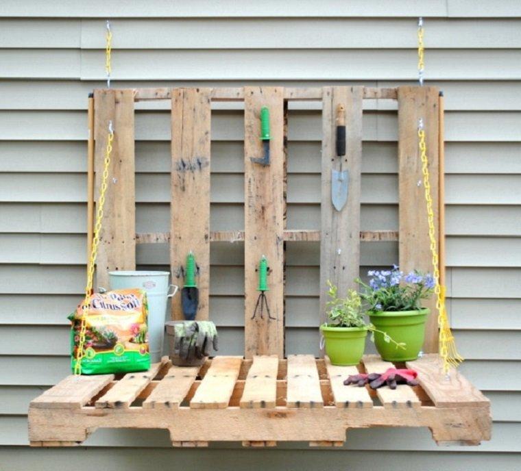 opciones estante jardin palets util ideas