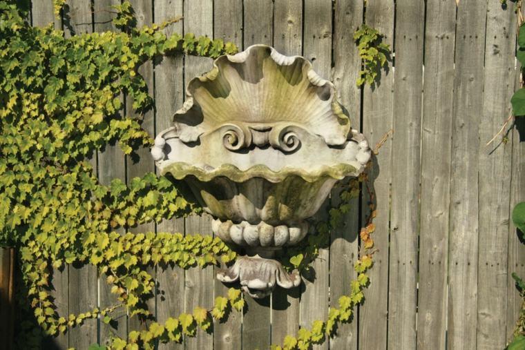 orginal fuente valla jardin clasica