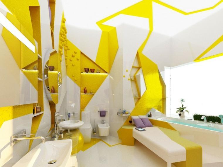 originales baños amarillo blanco