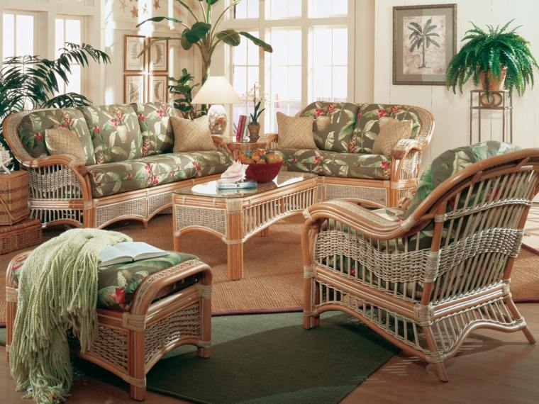 Muebles de mimbre y rattan modernos 24 dise os - Conjunto muebles salon ...
