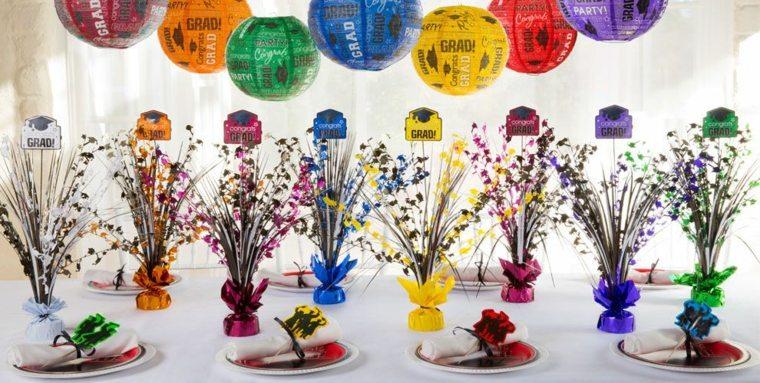 original decoración mesa colores