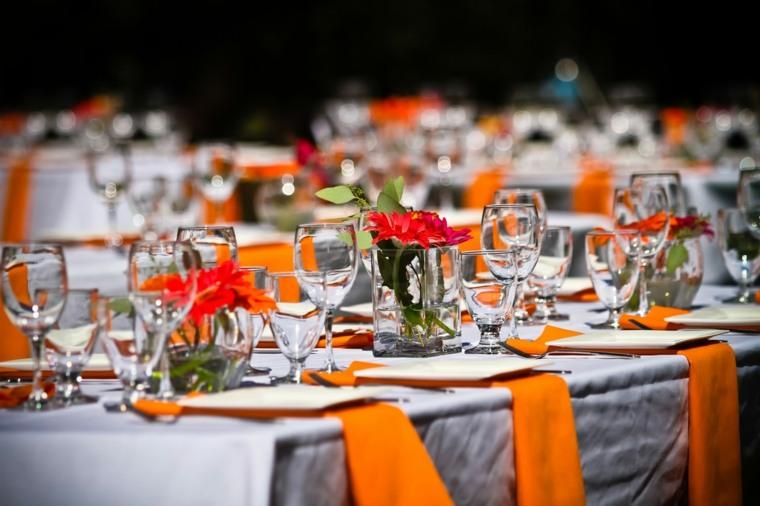 original decoración tonos naranja