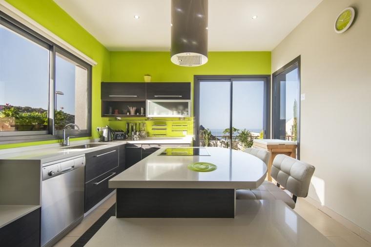 original diseño cocina verde