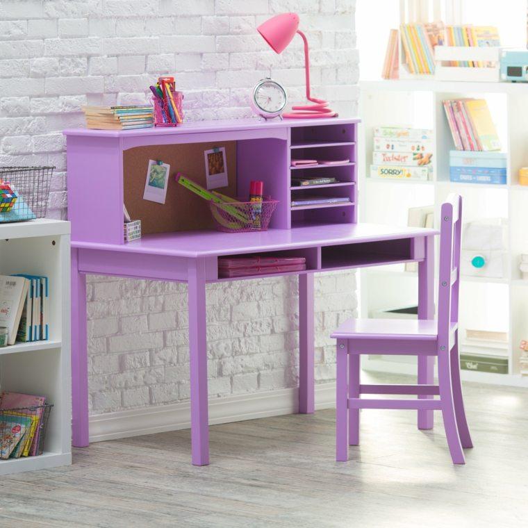 original diseño escritorio color violeta