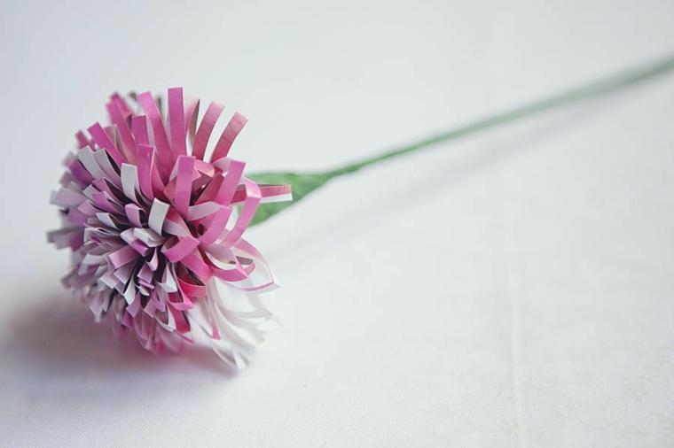 original flor clavel tiras papel
