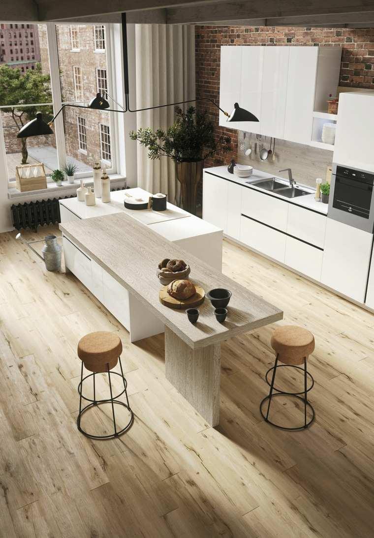 original isla cocina madera laminada