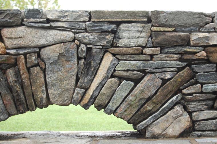 original muro piedra arco deco