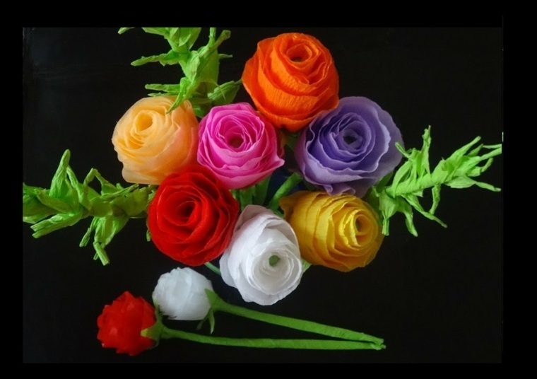 original ramo rosas flores papel