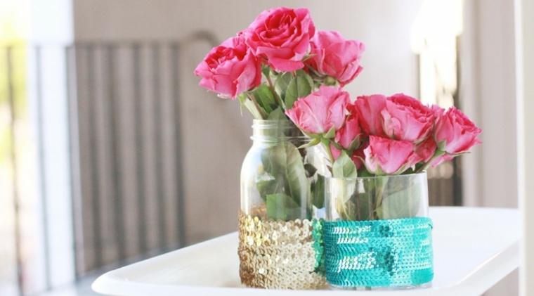 original deoc tarros flores rosas