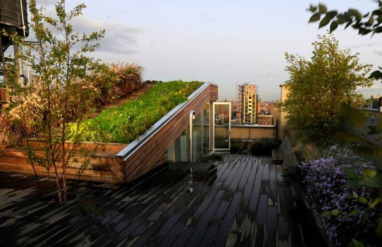 originales diseños terrazas verdes