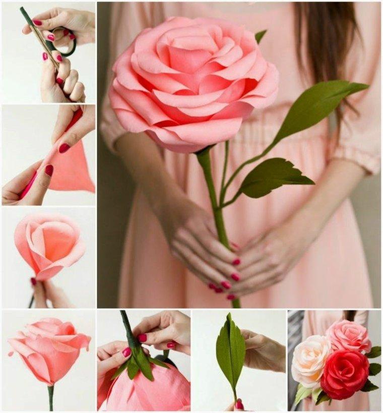 original flor rosa papel