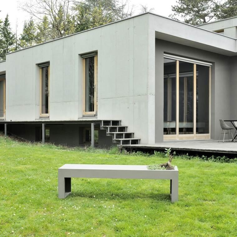 original diseño banco jardin cemento