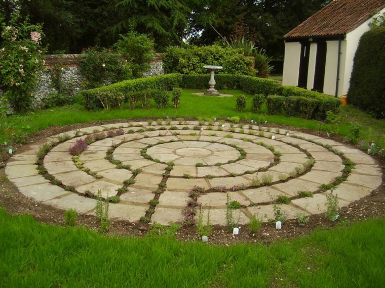 original diseño laberinto jardin