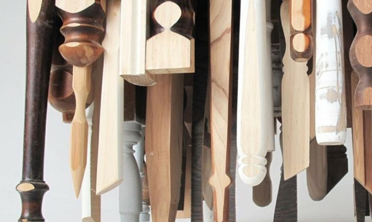 original diseño mesa patas madera