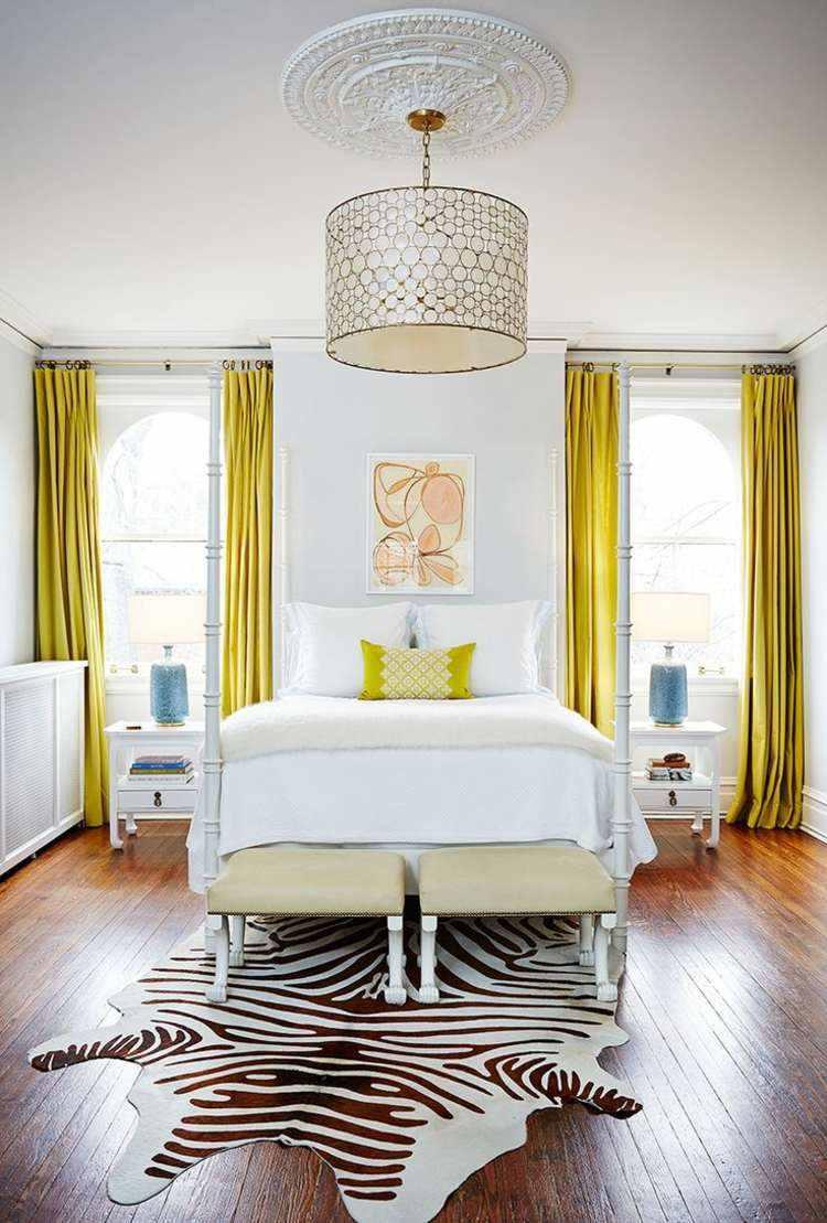 originales cortinas color amarillo brillante