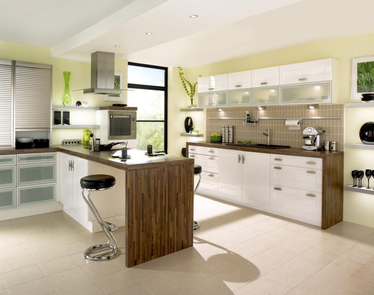 originales diseños encimeras cocina moderna